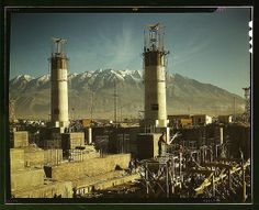 Steel mill under construction, Columbia Steel Co., Geneva, Utah, 1939