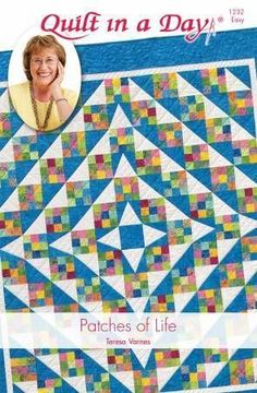 Patches for Life Quilt: Eleanor Burns Signature Quilt PatternPatches of Life is made with Nine-Patch, Triangle in a Square and Triangle Pieced Square Blocks. The Triangle in a Square blocks give this quilt the illusion of curves. Love this scrappy quilt - Lap Quilts, House Quilts, Strip Quilts, Scrappy Quilts, Quilt Blocks, Twister Quilts, Quilt Baby, Patchwork Quilting, Quilting Fabric