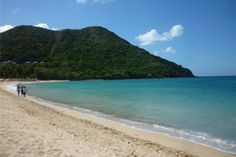 Sugar-sand beaches of the lush, volcanic island of St. Lucia