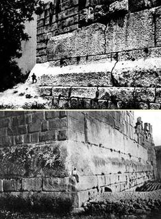 This amazed me as a kid. 3 stones at the Temple of Jupiter Baalin Baalbek, Lebanon. Each one is 70 feet long, 14 feet high, 10 feet thick, and weigh 800 tons. those ancient peole knew how to move their stone!