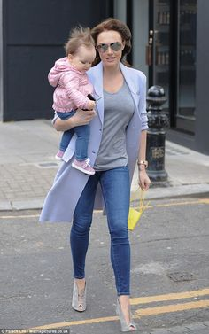 Looking good! Mother-of-one Tamara Ecclestone was seen stepping out with daughter Sophia w...
