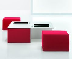 A simple, yet elegant compact-able table with seats.