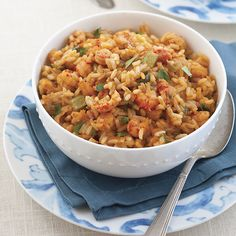 Crawfish tails are a treasure in Louisiana. There are countless ways to enjoy the versatile crustacean, but this homey and comforting Crawfish Dirty Rice from Tammy Abellard is one of our favorites. This classic dish starts with the Holy Trinity of celery, bell pepper, and onion, and builds flavor from there. If you're hosting out-of-town