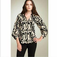 1Day Sale Diane Von Furstenberg Komono Sleeves 4 Silk. Great condition only worn a handful of times. bust 36. top to bottom 26. Diane von Furstenberg Tops Blouses