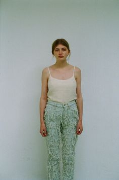 SS14: Faustine Steinmetz Lookbook Images.  #FaustineSteinmetz #SS14 #Lookbook #Fashion #Denim #Womens #Clothing #SannaHelenaBerger #SophieYall