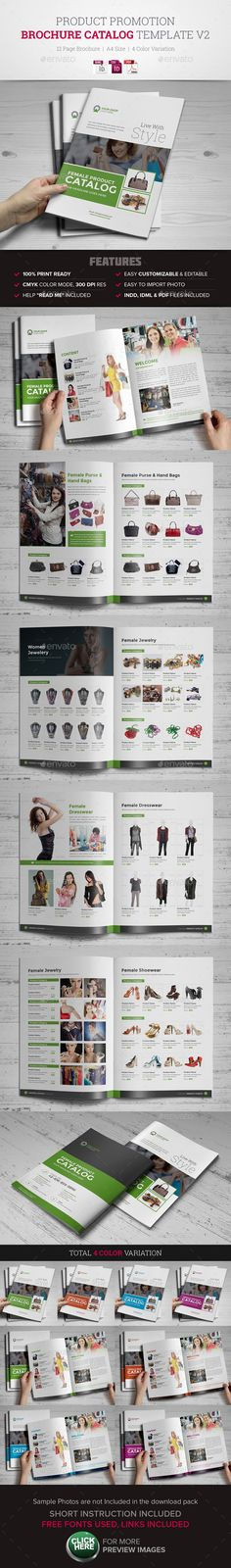 Product Promotion Catalog InDesign Template #design #brochure Download: http://graphicriver.net/item/product-promotion-catalog-indesign-template-v2/11408161?ref=ksioks