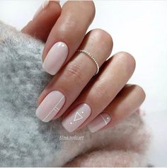 Square Acrylic Nails, Best Acrylic Nails, Acrylic Nail Designs, Chic Nails, Stylish Nails, Trendy Nails, Milky Nails, Nagellack Design, Neutral Nails