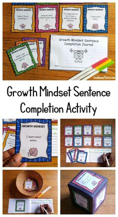 40 Growth Mindset Sentence Stems and recording journal to help children think critically about their mindset and the core beliefs that influence their ability to challenge themselves and adapt to new learning experiences. Great for school counselors, social workers, parents, and teachers.  #growthmindset #positiveparenting #counseling #education #schoolsocialworkideas #mentalhealth #CarolDweck Coping Skills Activities, Growth Mindset Activities, Teaching Social Skills, Counseling Activities, Preschool Learning Activities, Social Emotional Learning, Writing Activities, Elementary School Counseling, School Social Work