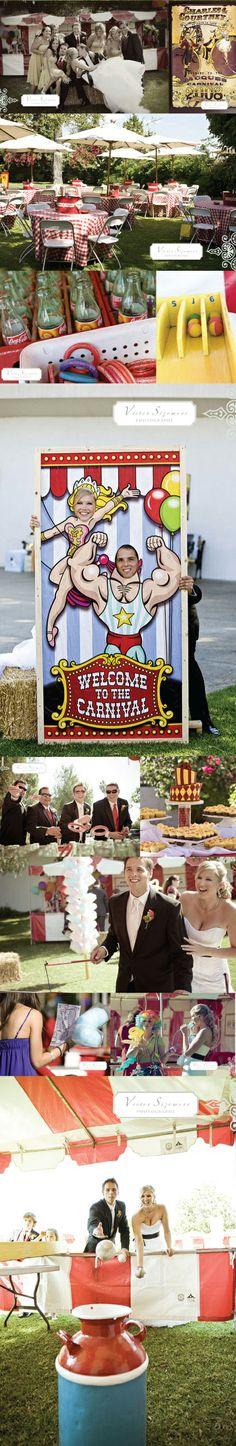 Boda con temática de circo. Qué divertido!!! http://trendyeventrentals.com/