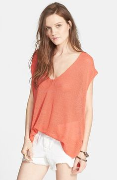 Free People 'Easy Tea' Short Sleeve Sweater available at #Nordstrom
