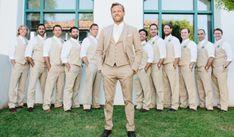 Colorful Summer Wedding at Ojai Valley Inn - beach wedding Tuxedo Wedding, Wedding Groom, Wedding Suits, Wedding Attire, Wedding Dresses, Gown Wedding, Bride Groom, Champagne Wedding Colors, Colored Wedding Gowns
