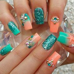 Pretty Life is a Beach Tropical Nails - Best Nail Art