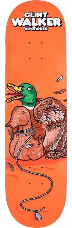 Birdhouse Skateboards Clint Walker Fowl Skateboard Deck