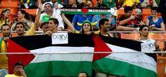 """""""احتجاجات كأس العالم في البرازيل أصبحت احتجاجات لدعم غزة."""" – 12 يوليو/تموز 2014 """"."""