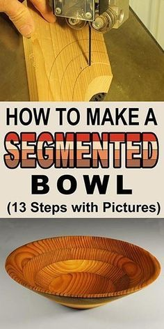 How to Made a Segmented Bowl (Woodturning Project) - Learn how to make a segmented bowl. Woodturning project for the wood lathe - Lathe Tools, Woodworking Joints, Learn Woodworking, Easy Woodworking Projects, Popular Woodworking, Woodworking Furniture, Woodworking Plans, Woodworking Patterns, Woodworking Techniques