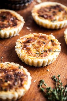 Onion Jam Tartletts with Comte Cheese and Thyme