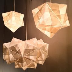 @ameico_design is showing off these lovely paper #origami #lamps at @icff_nyc…