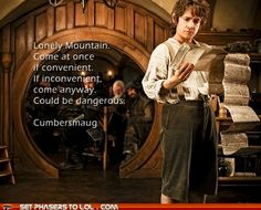 Let's face it, every fan of British television will make Sherlock references all throughout the Hobbit.