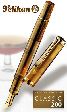 Cognac M200 Pelikan. Such understated elegance. Available with a cursive italic nib.