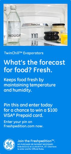TwinChill™ Evaporators – What's the forecast for food? Fresh. Keeps food fresh by maintaining temperature and humidity. #GEfreshFL