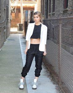 Dani Mikaela McGowan - American Apparel Graph Patterned Crop Top - WoMENswear