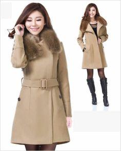 Pea Coat Oversized Camel Womens Winter Wool Coat Wool Long Jacket ...