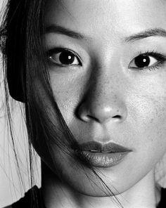Lucy Liu portrait Asian Freckles, Asian Eyes, Lucy Liu Kill Bill, Lucy Lucy, Gorgeous Women, Beautiful Celebrities, Beautiful Actresses, Most Beautiful People, Lucy Liu Elementary