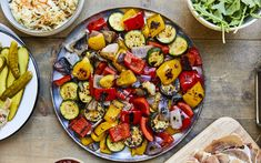 Légumes grillés sur le barbecue – Savourer par Geneviève O'Gleman Kimchi, Barbecue, Kung Pao Chicken, Ratatouille, Zucchini, Side Dishes, Grilling, Nutrition, Healthy Recipes