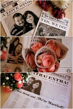 Wedding Newspapers | Confetti Daydreams