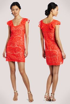 Redorange Cocktail Dress