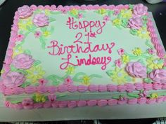 Spring birthday cake!