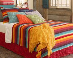 #PineConeHill Montego Stripe Multi Chenille Blanket