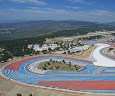 An ariel view of Circuit Paul Ricard, Le Castellet