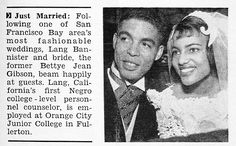 https://flic.kr/p/eMXAZG | Just Married Bettye Jean Gibson Marries Langston…