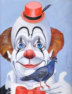 """RED SKELTON (American 1913-1997) A PAINTING, """"Valiant,"""" oil on canvas, signed and dated 1974"""