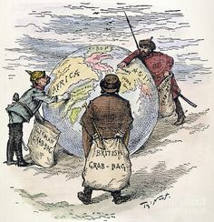 Imperialism is a MAIN cause of WWI,  many nations wanted to expand. In the political cartoon the more powerful nations were choosing the territories they wanted to control.
