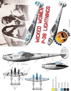Lockheed P 38 Lightning, Black Flats, Grey And White, Modeling, Aircraft, Decals, Black Flats Shoes, Aviation, Tags