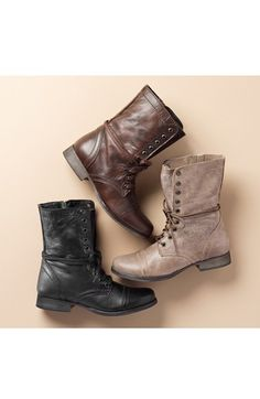 Need these in dark brown. So cute!! Size 7.5 Steve Madden 'Troopa' Boot | Nordstrom