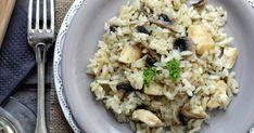 Ριζότο μανιταριών με γαλοπούλα Potato Salad, Grains, Rice, Potatoes, Meat, Chicken, Ethnic Recipes, Food, Potato