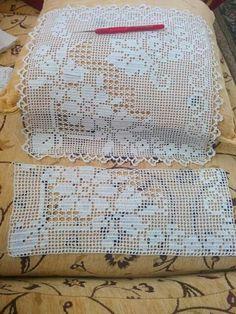 Filet crochet garden