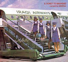 Vintage Iraqi Airways image.