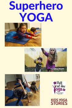 Superhero Yoga Poses for Kids - Pretend to be Batman, Spiderman, Superman, Wonder Woman, and The Hulk through yoga moves for kids! Yoga Moves For Kids, Kids Yoga Poses, Yoga Poses For Beginners, Exercise For Kids, Toddler Yoga, Yoga Nature, Childrens Yoga, Preschool Age, Yoga Positions