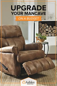 Make the most out of the man cave with leather furniture and other ultra-comfy accessories from Ashley Homestore! Visit ashleyhomestore.com today and stay under budget and overly comfortable.