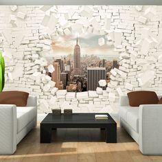 983V -New York City Stadt Street-Art Wand-Malereien VLIES Fototapete-GRAFFITI-