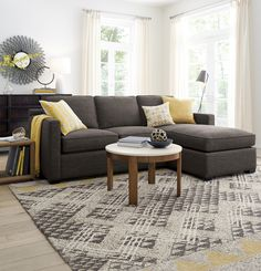 Davis is designed to sit big in small spaces at an affordable price. Upright, yet comfortable, this diverse sectional collection makes itself right at home in any family room or casual living space. For a custom configuration, group this 3-seat lounger sofa with other Davis sectional pieces to suit any set-up.