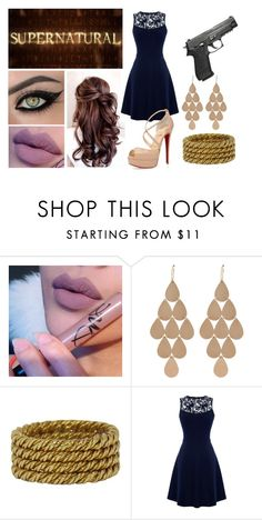 """""""Formal!Elle"""" by katherinekenney ❤ liked on Polyvore featuring Irene Neuwirth, Tiffany & Co., Warehouse and Christian Louboutin"""