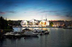Eleven renowned architects present proposals for Stockholm's future Nobel Center Landing Seagulls. Image via nobelcenter.se