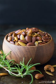 Rosemary Spiced Mixed Nuts | Cooking on the Front Burner