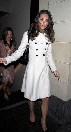 kate mid - white coat