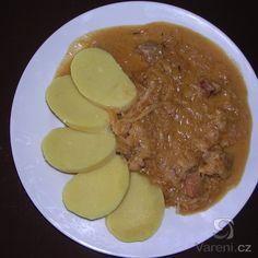 Segedínsky Guláš (Slovak Segedin Goulash) pork with sauerkraut and dumplings